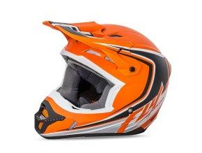 přilba Kinetic Fullspeed, FLY RACING - USA (matná oranžová/černá)