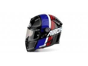 přilba GP500 Scrape, AIROH - Itálie (černá/modrá/červená)