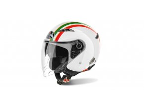 přilba CITY ONE Style, AIROH - Itálie (bílá/zelená/červená)