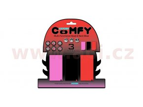 nákrčníky Comfy jednobarevné, OXFORD - Anglie (sada růžový/černý/červený, 1ks od barvy)