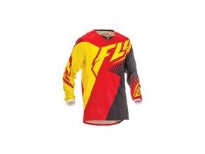dres Kinetic Vector, FLY RACING - USA (červená/černá/žlutá, vel. M)