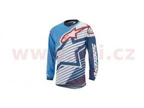 dres Racer Braap 2017, ALPINESTARS - Itálie (modrý/bílý/tmavě modrý/červený)