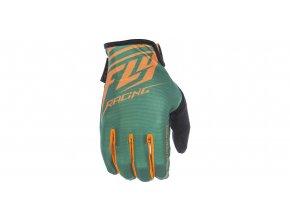 rukavice Media, FLY RACING - USA (zelená/oranžová)