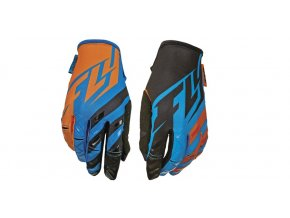 rukavice Kinetic, FLY RACING - USA (modrá/oranžová/černá)