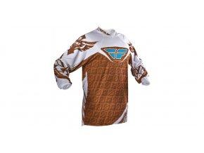 dres Kinetic , FLY RACING - USA dětský (hnědá/bílá)