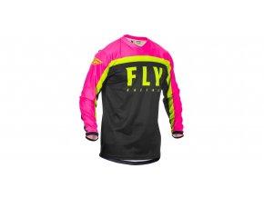 dres F-16 2020, FLY RACING - USA dětský (růžová/černá/hi-vis)