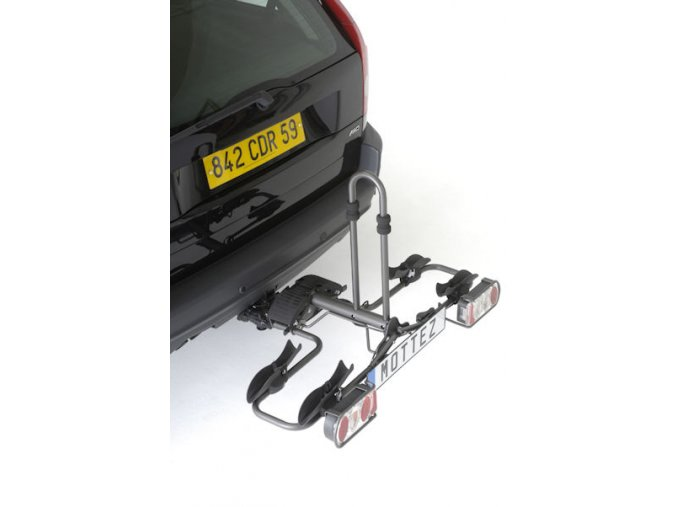 mottez a019p2 folding 2 bike towbar mounted carrier 669 p