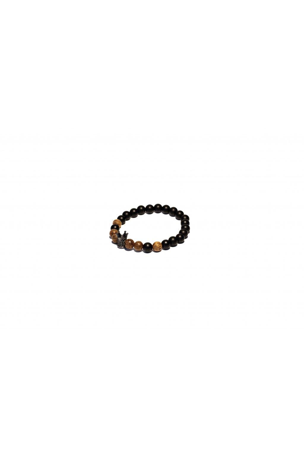 Pánský náramek - Black crown