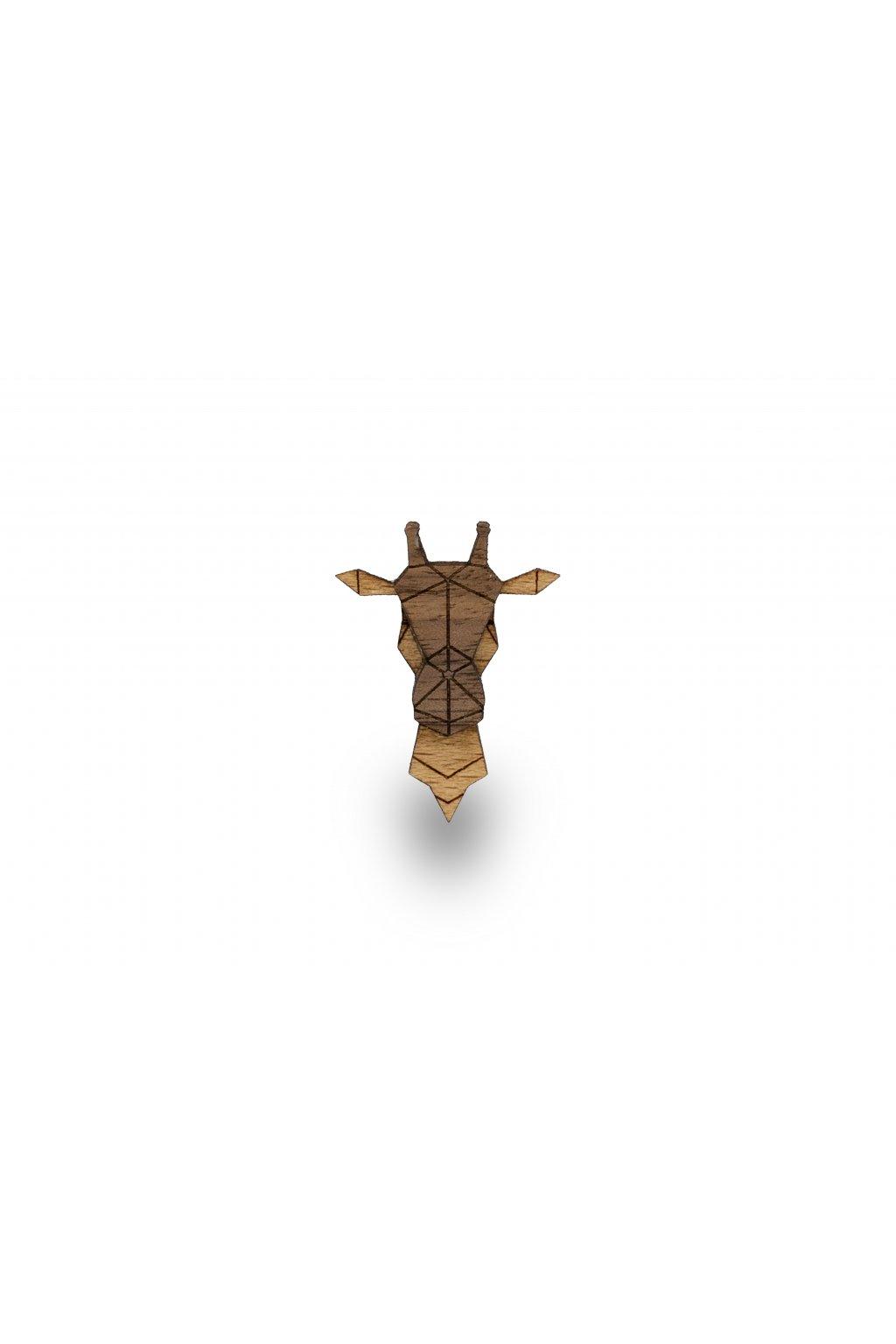 Dřevěná brož - Žirafa