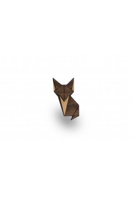 Dřevěná brož - Liška