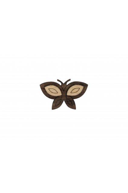 Dřevěná brož - Motýlek