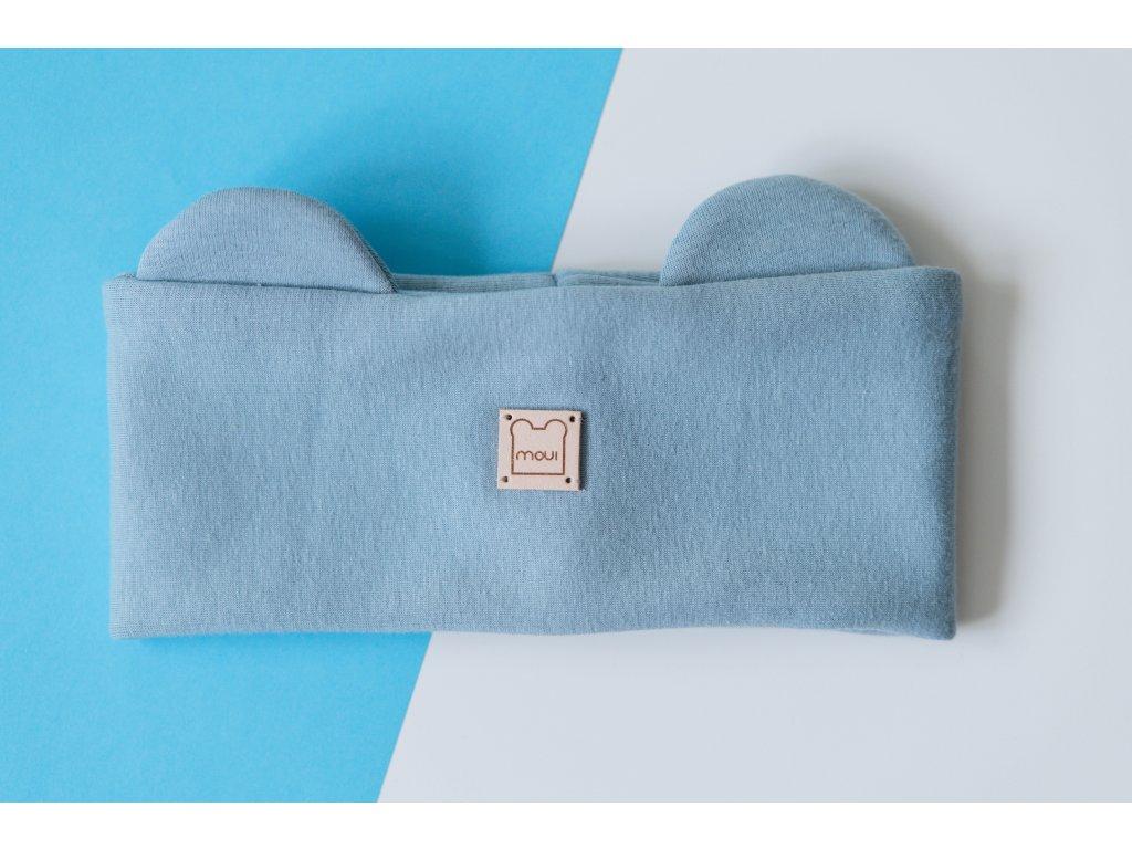 Modrá čelenka Moui (teplákovina)