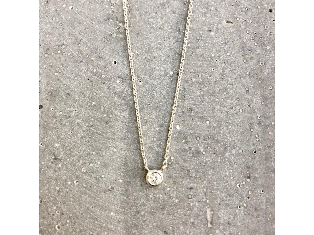 Dámský náhrdelník se zirkonem stříbro Mou Jewel