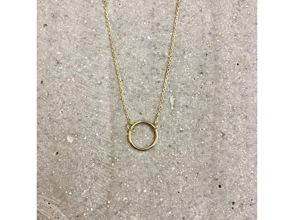 Dámský náhrdelník Karma žluté zlato Mou Jewel