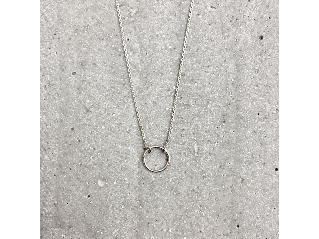 Dámský náhrdelník Karma stříbro Mou Jewel