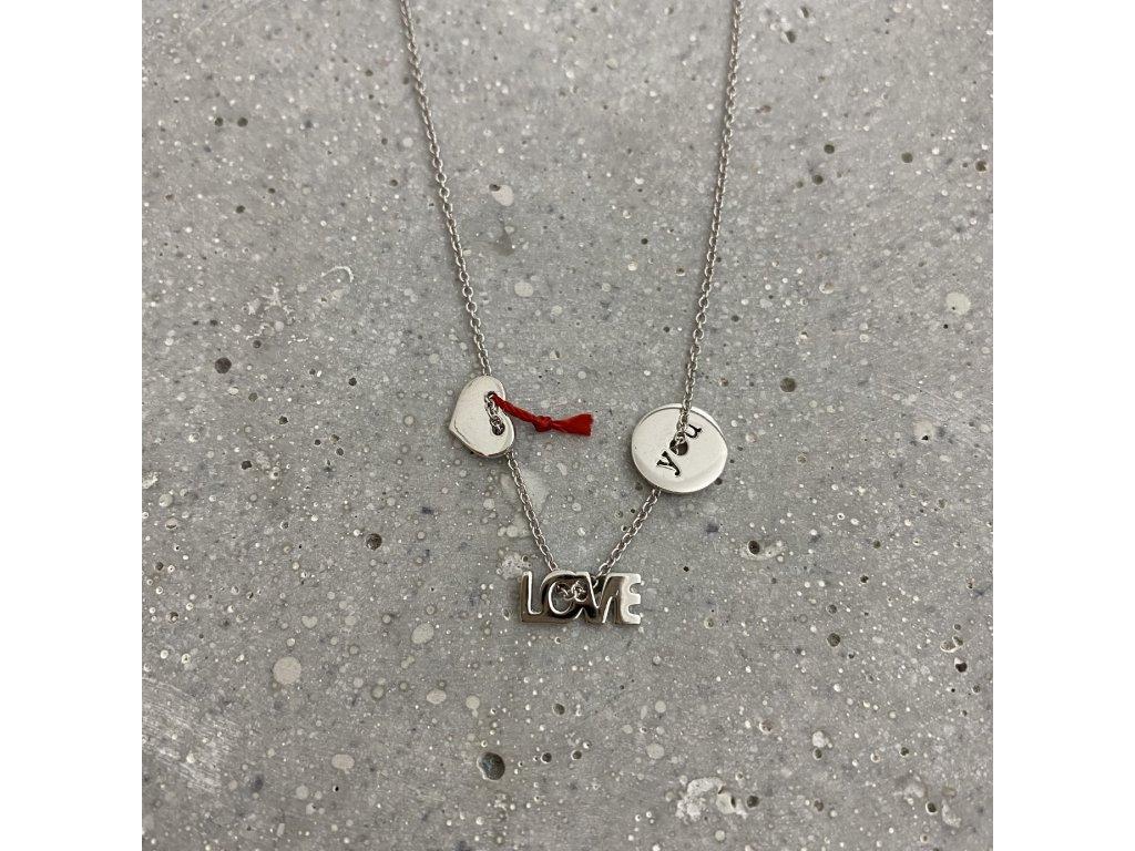 Dámský náhrdelník LOVE YOU stříbro Mou Jewel