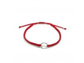 Pánský náramek Karma červený/stříbrný Mou Jewel