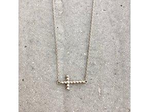 Dámský náhrdelník křížek stříbro Mou Jewel