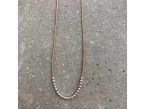 Dámský náhrdelník s korálky béžový Mou Jewel