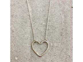 Dámský náhrdelník stříbro se srdíčkem Mou Jewel