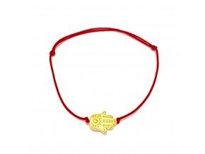 Dámský náramek Hamsa červený Mou Jewel