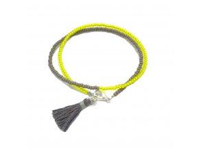 Dámský náramek žlutý se střapcem Mou Jewel