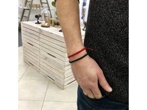 Pánský náramek červený Mou Jewel
