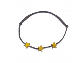Dámský náramek Hematite hvězdička zlatá Mou Jewel