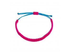 Dámský náramek růžový/tyrkysový neon Mou Jewel