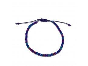 Dámský náramek s korálky modrý Mou Jewel