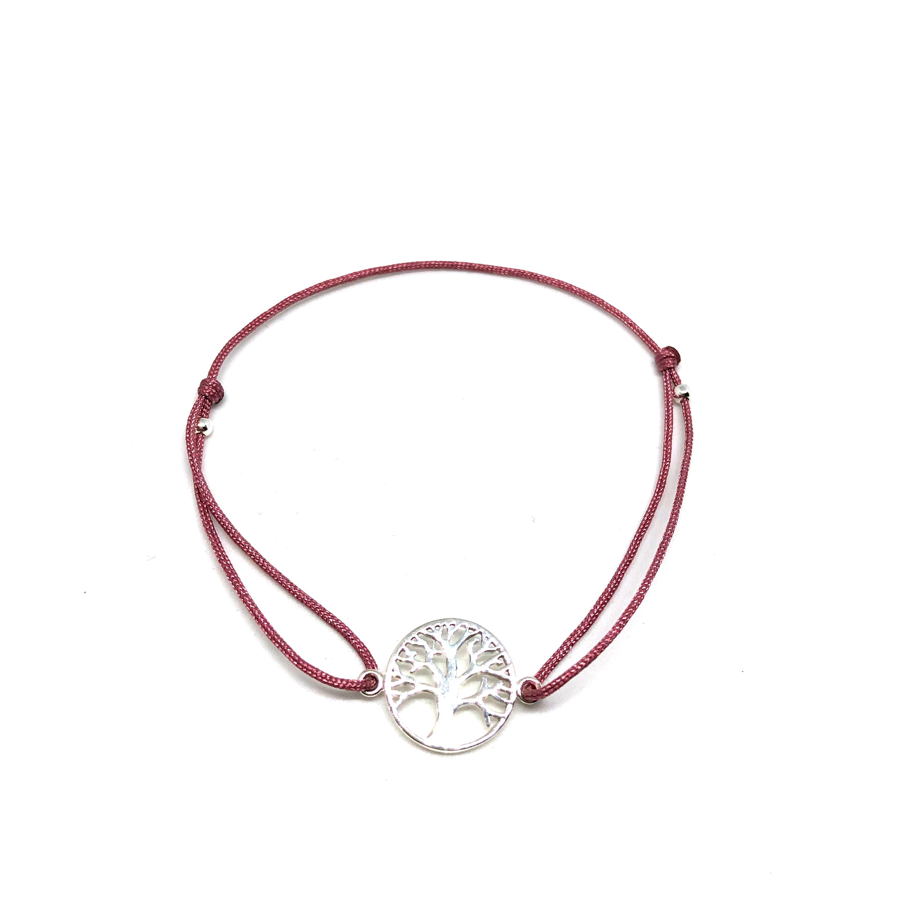 Dámský náramek strom života starorůžový/stříbro Mou Jewel