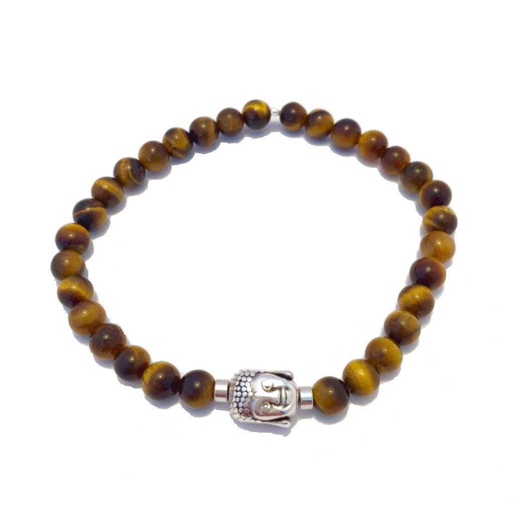 Pánský náramek Tygří oko s Buddhou Mou Jewel