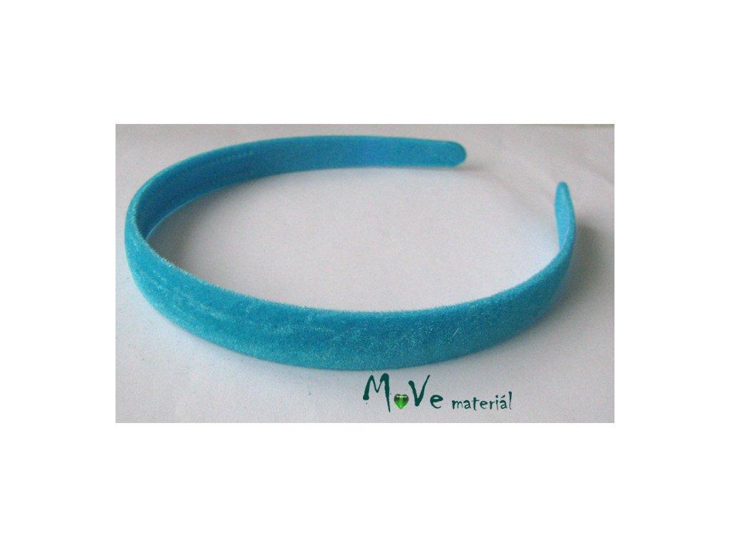 Čelenka sametová jednoduchá tyrkysová - MoVe materiál e733424a77