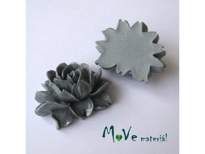 Kabošon lesklý K1 - resin - 1ks, šedý