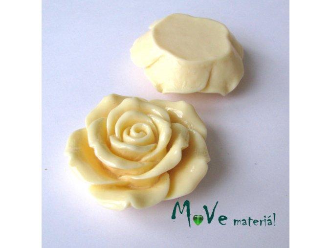 Kabošon lesklý K2 - resin - 1ks, vanilkový