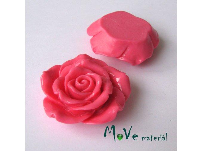 Kabošon lesklý K2 - resin - 1ks, růžový