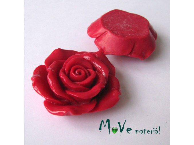 Kabošon lesklý K2 - resin - 1ks, červený