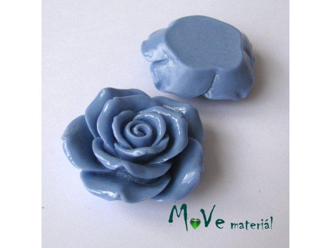 Kabošon lesklý K2 - resin - 1ks, modrý