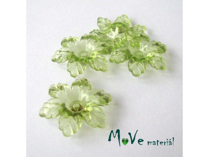 Akrylový květ 22mm, 4ks, hráškový