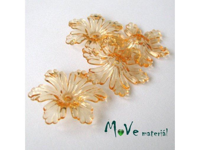 Akrylový květ 27,5mm, 4ks, oranžový