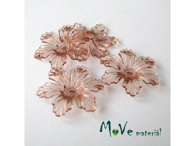 Akrylový květ 27,5mm, 4ks, hnědý