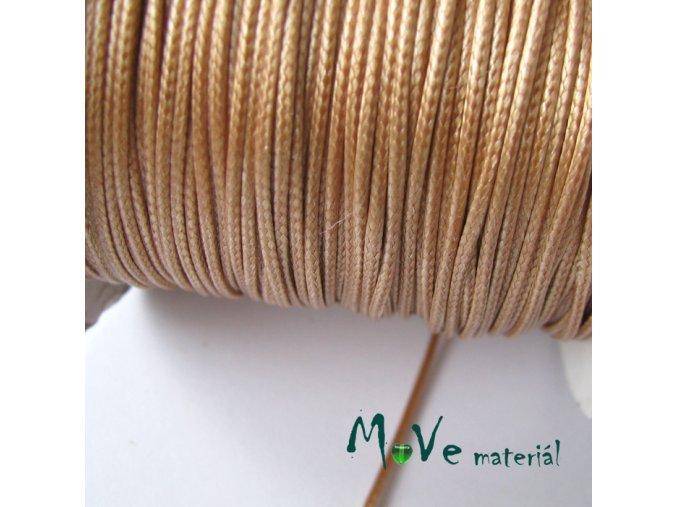 Šňůra voskovaná polyester pletená 1mm, 3m, béžová