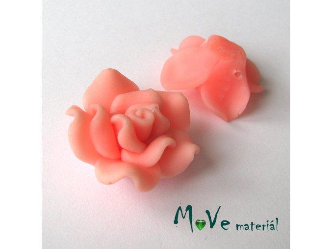 Polymerový korálek KVĚT, 1ks, lososový