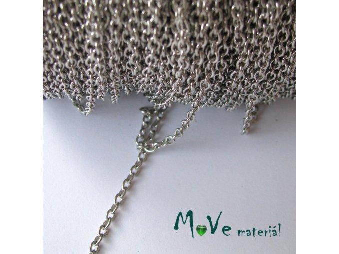 Řetízek kovový - délka 1m, platina
