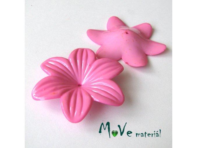 Akrylový květ 42mm, 1ks, sv. růžový