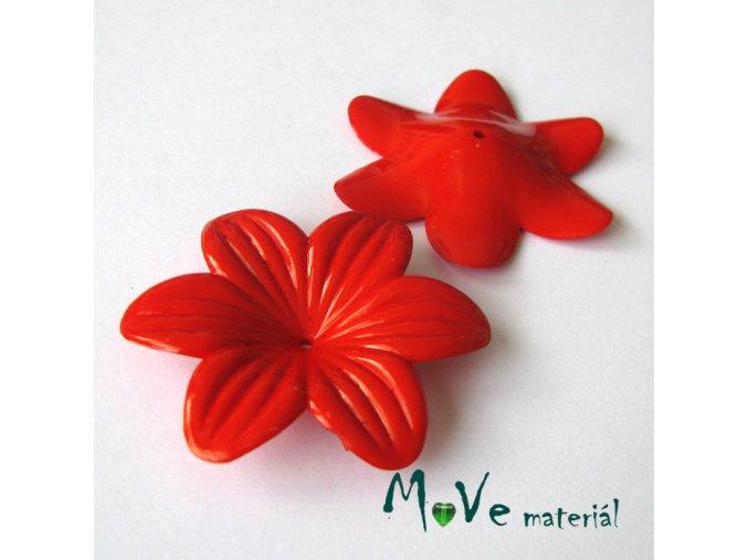 Akrylový květ 42mm, 1ks, červený