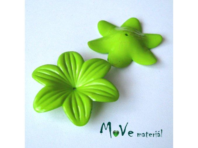 Akrylový květ 42mm, 1ks, zelený
