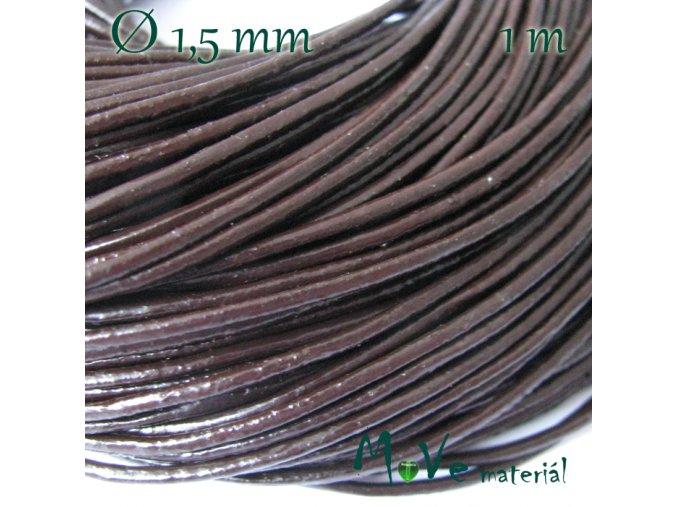Kulatá přírodní kůže 1,5mm/1m, hnědá