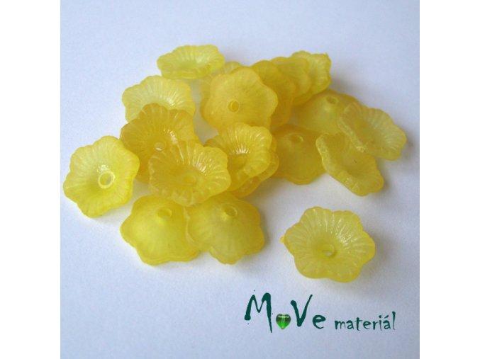Transpar. akrylové kytičky 11x4mm, 20ks, žluté