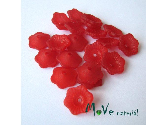 Transpar. akrylové kytičky 11x4mm, 20ks, červené